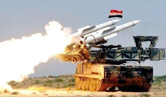 مقابله پدافند هوایی سوریه با حملات پهپادی تروریست ها