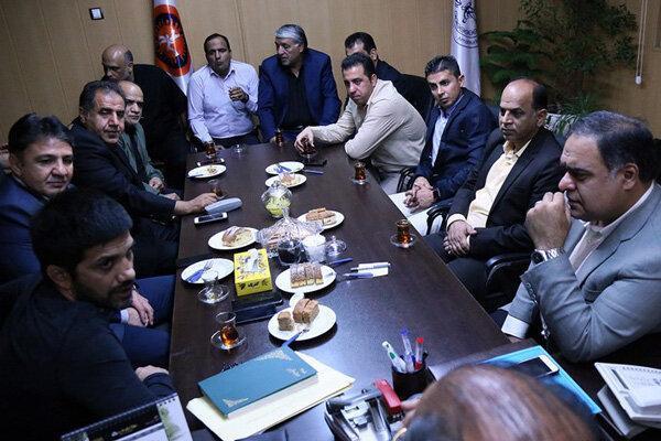 نشست مسئولان ورزش شهرداری تهران و فدراسیون کشتی برگزار گردید